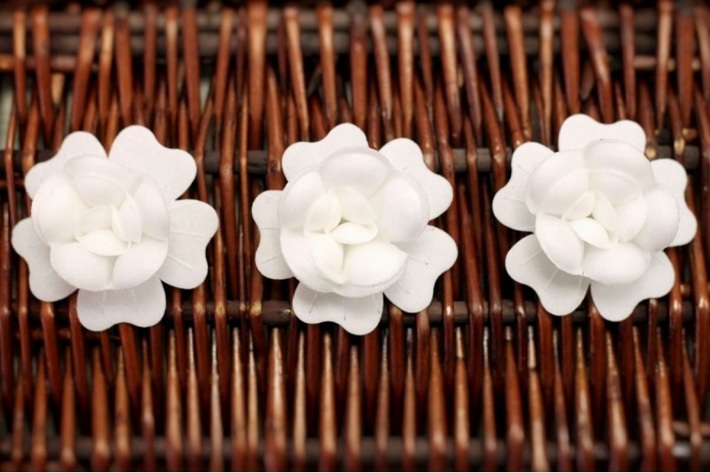 Dekors vafeļu Narcises baltas komplekts